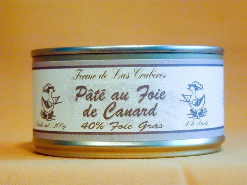 Pâté au foie (40% foie gras) 200g