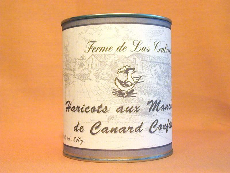 Haricots aux manchons de canard confits 840g