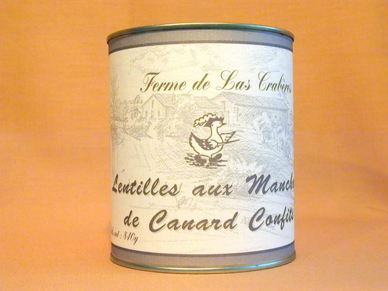 Lentilles aux manchons de canard confits 840g